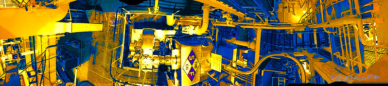 """""""Great Lakes Freighter Engine Room"""""""