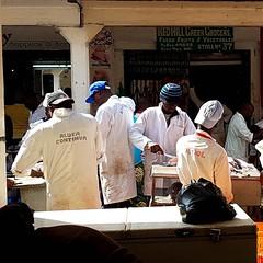 'Aluta continua'  Fishmongers of Nairobi City Market  #AlutaContinua #fishmonger #soco #artfulsignage #humor #market #wetmarket #EverydayKenya #apron #lategram (c) Marlene C. Francia 2016