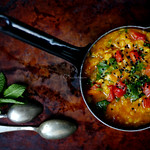 vöröslencse-curry