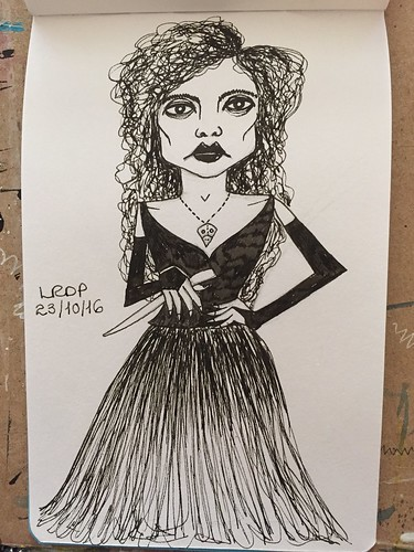 23 Inktober 2016 - Bellatrix Lestrange | by Pict Ink