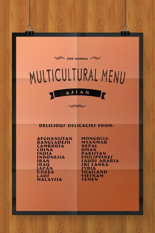 Multicultural Menu Asia