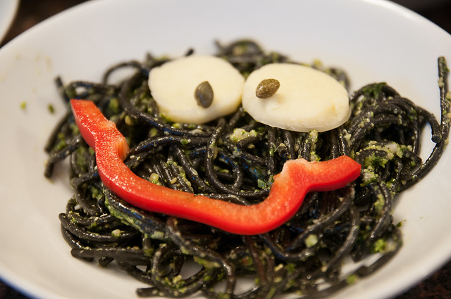 ghoulish monster pasta