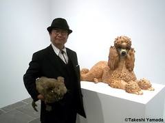 Seara (sea rabbit) and Dr. Takeshi Yamada visited the art exhibition of Jeff Koons at the Whitney Museum of American Art in Manhattan, NY on October 10, 2014. 20141010 187===C