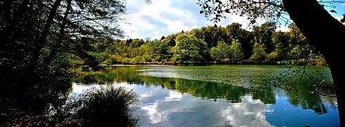 panorama eau reflets paysages étang cossonay sépey fabuleuse