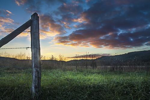 park autumn sunset mountains fall fence october post great national lane hyatt smoky cadescove gsmnp