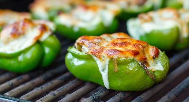 What's on the Grill #307: Cheesesteak Stuffed Peppers