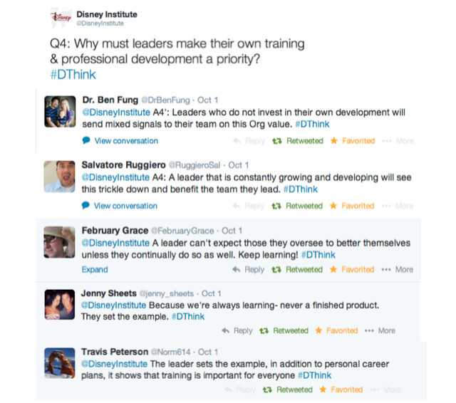 disneyinstitute-#DThink Twitter Chat Recap: A Leader's Role In Fostering Training and Professional Development