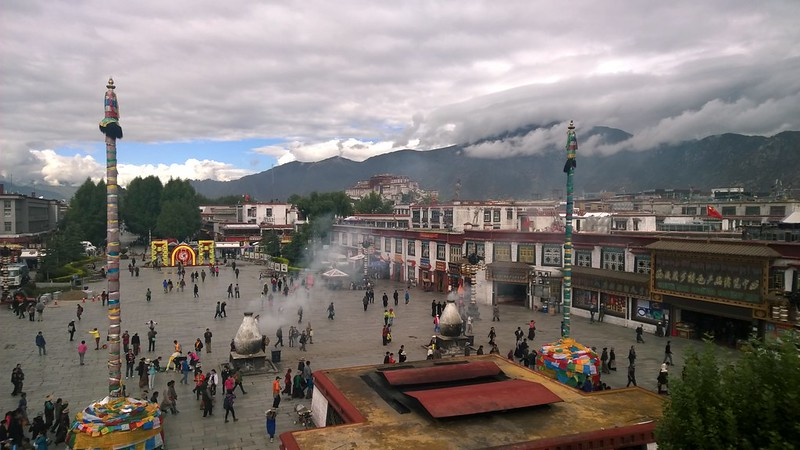 Jokhang Temple Potala view