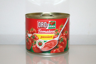 05 - Zutat Tomaten passiert / Ingredient sieved tomatoes