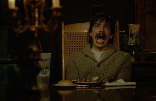Justin Long can't save himself in/or TUSK.