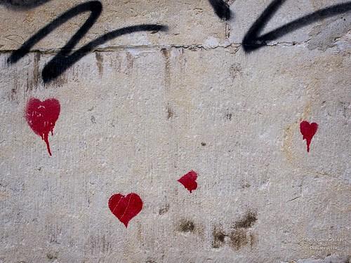 Herzchen an der Wand
