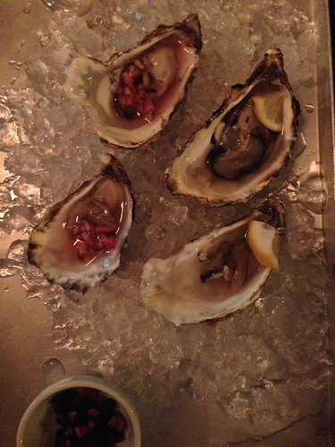 Mr Susan F'in Good Hidden Chef dinner for Stadt Land Food fest_ oysters with KimChi relish and candied bacon
