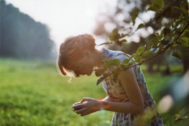 worteinbildern - When an apple feels like a tender touch