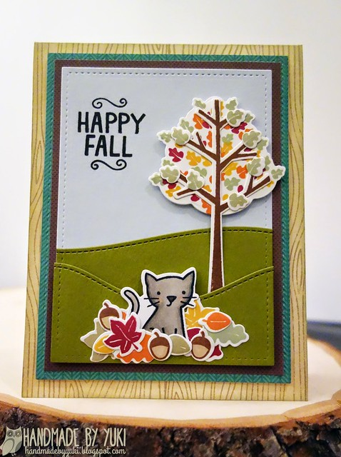 """Happy Fall"" Card featuring Lawn Fawn"