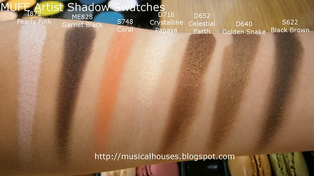 MUFE Artist Shadow Eyeshadow Swatches 2 Row 4