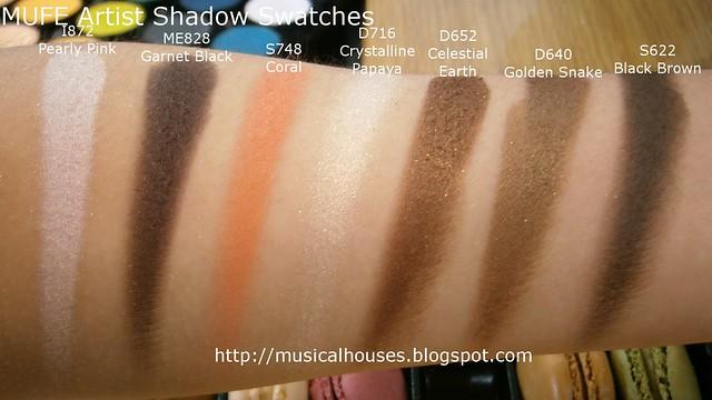 MUFE Artist Shadow Eyeshadow Swatches 2 Row 4