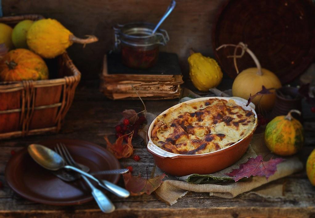 lasagne au gratin  with pumpkin.7