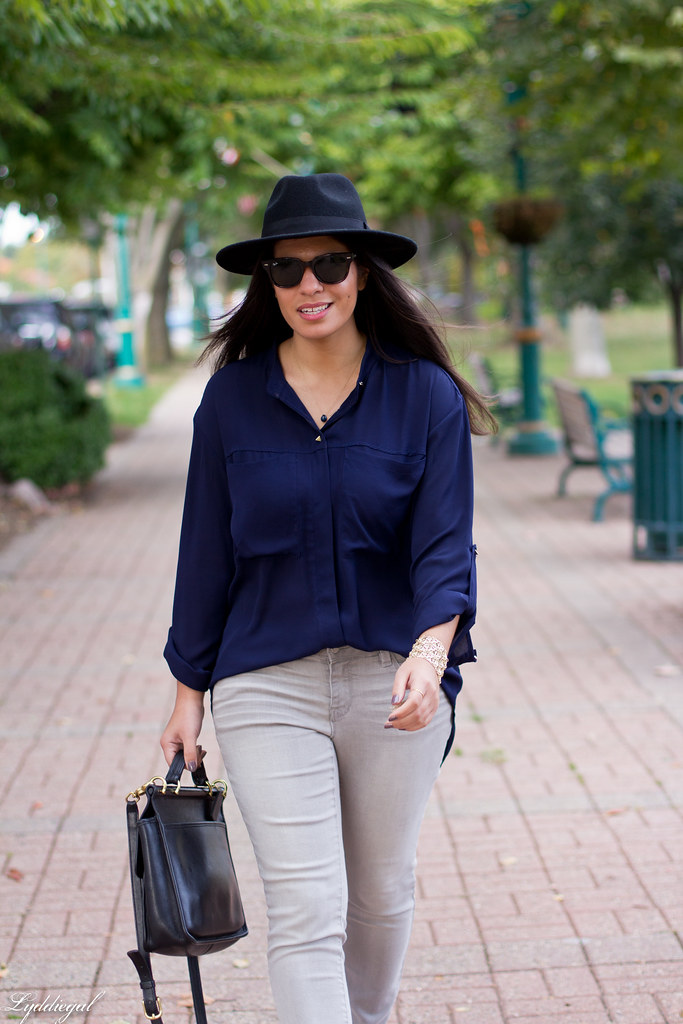 grey denim, navy blouse, wool fedora-4.jpg