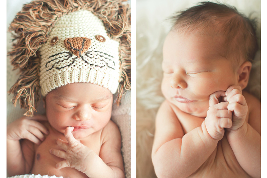 Verticals of newborn