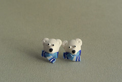 :: Polar bear earrings