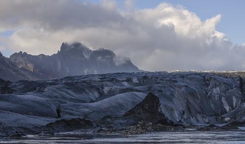 landscape iceland glacier hdr