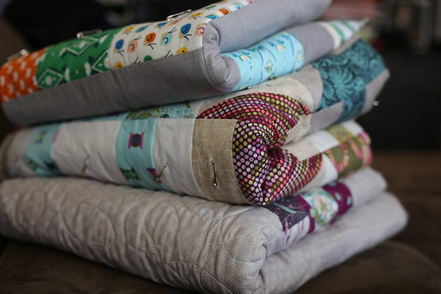 Stack of Quilty WIPs