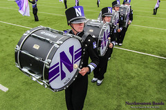 Bee-dum-dum-bup! ::  	   The Northwestern University 'Wildcat' Marching Band rehearses outside Ryan Field before Northwestern Football hosts Wisconsin on October 4, 2014.  Photo by Daniel M. Reck '08 MSEd.