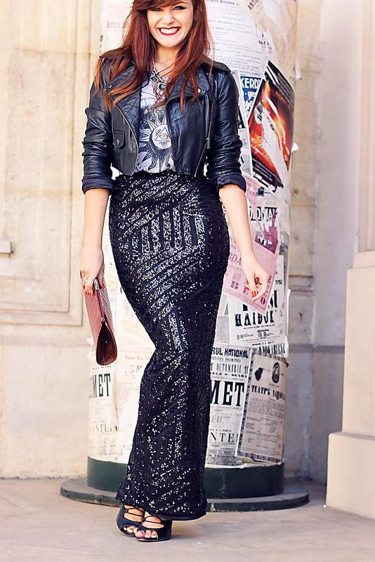 sequin maxi skirt 1