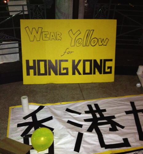 Wear Yellow for Hong Kong