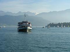Steamer ride back to Luzern