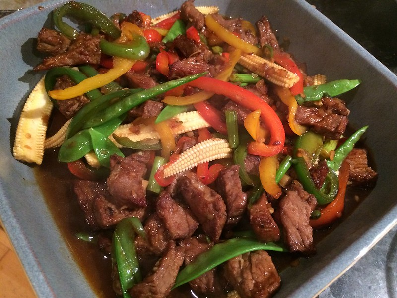 Sizzling Beef Teriyaki : Another close up