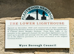 Photo of Decimus Burton and Lower Lighthouse white plaque