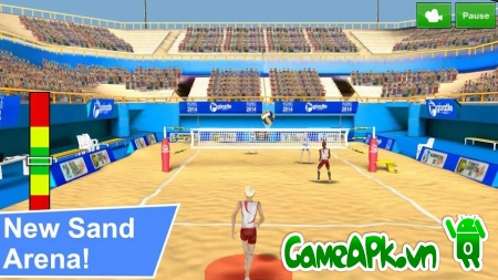 Volleyball Champions 3D 2014 v5.5 hack full tiền cho Android