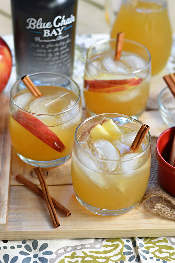 Spiced Coconut Rum & Apple Cider Cocktail bethcakes.com