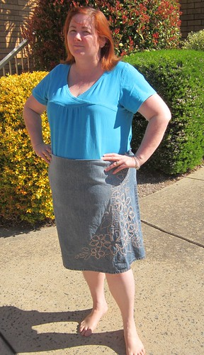 Denim Skirt Upcycle
