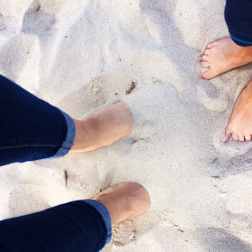 D is for Dream. All summer I've dreamed of having my toes in the soft sand of Delaware.