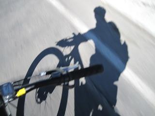 Selfie shadow pic