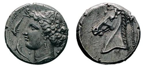 No. 1 LILYBAION (Sicily). Siculo-Punic tetradrachm