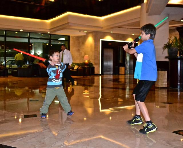 Light Saber fighting, grand tikal futura hotel, Guatemala city