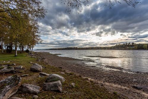 sunset lake church cloudy sweden cloudporn töcksfors varmlandcounty västrafågelvikskyrka