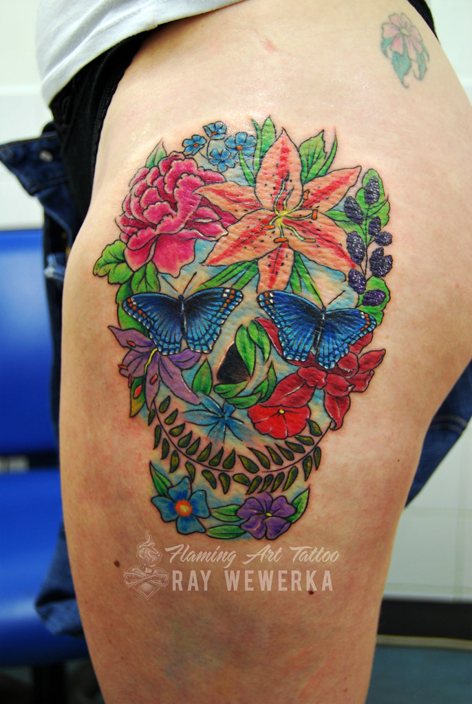 Flower Skull Tattoo More Art And Tattoos Here Wwwfaceboo Flickr