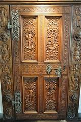 Porte des quatre Saisons, Hôtel de Ville (XVIIe), rue du Grand Pont, Sion, canton du Valais, Suisse.
