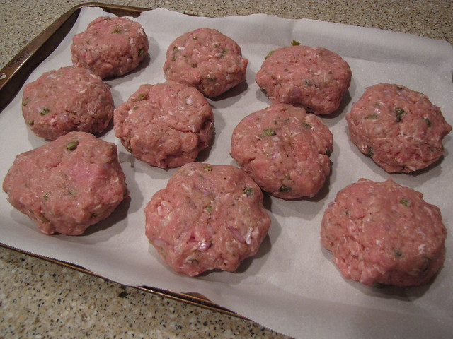 Burgers with Shallots & Gin