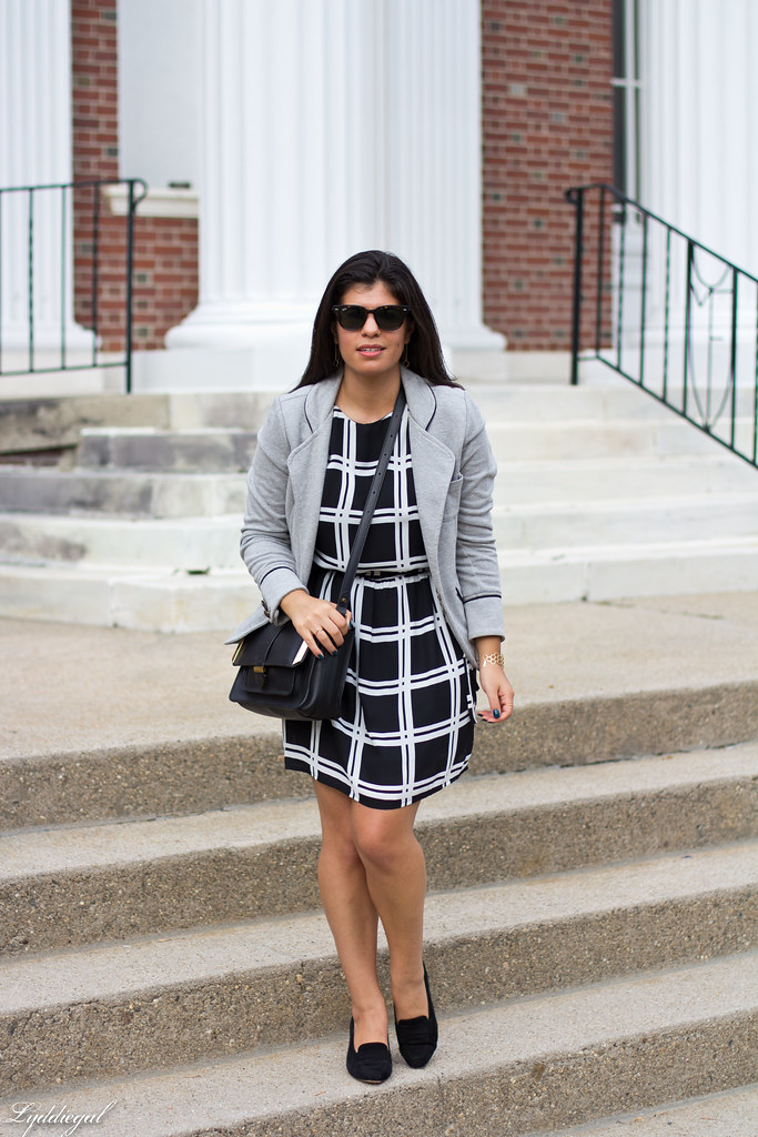 grid print dress, grey sweatshirt blazer-4.jpg