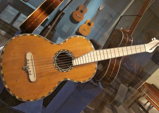 antique martin guitar with ivory