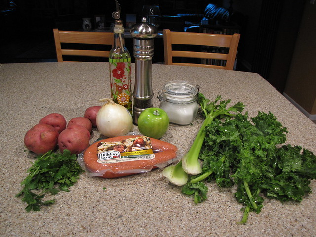 Sausage, Kale & Apple Hash Ingredients