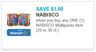 image relating to Nabisco Printable Coupons identified as $1/1 Nabisco Multipack and No cost Manwich wyb Kings Hawaiian