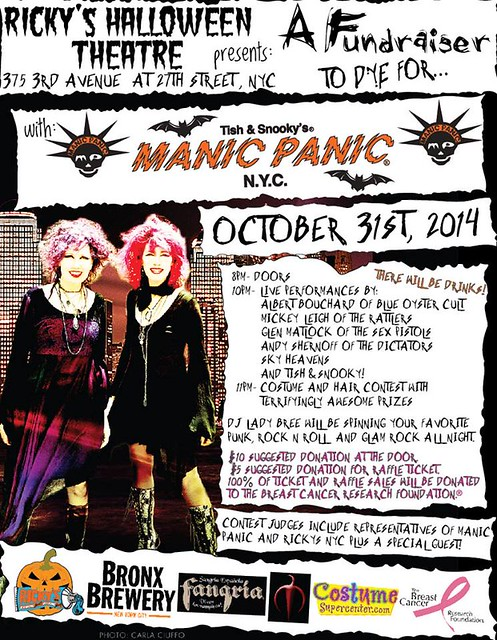 10/31/14 Manic Panic Presents A Benefit to Die For @ Ricky's Halloween Teater, NYC, NY