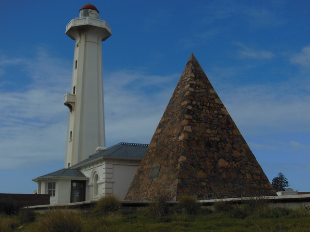 Hill Lighthouse and Donkin Memorial Pyramid