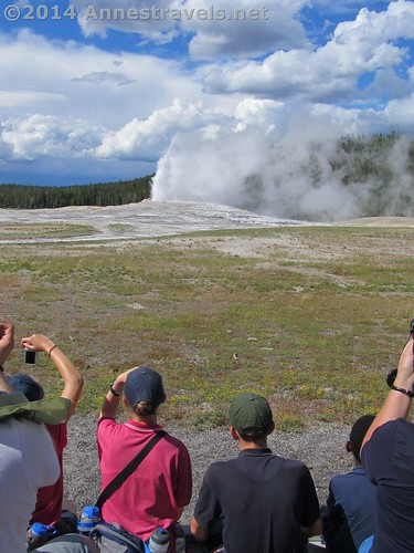 Coming prepared, even just to see Old Faithful...hats, snacks, water, camera...
